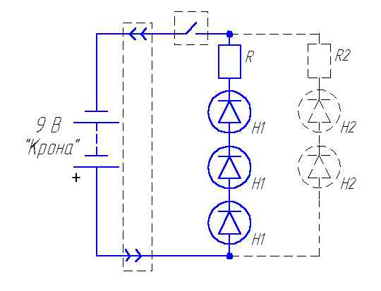 схема включения b светодиода /b- Поиск.